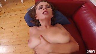 MY NAUGHTY ALBUM - Russian babe Marina Visconti gets her big tits cum covered