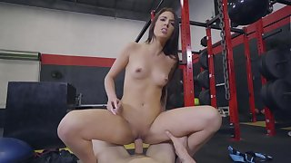 Aubrey Rose serious fucking at the gym along random guy