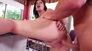 Mature throats and fucks younger man's cock in extra harsh scenes
