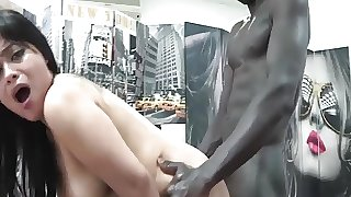 Sweet Carol is destroyed by two monster cocks in first DP