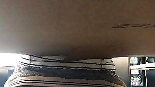 EBONY BBW UNDERTABLE UPSKIRT