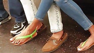 Candid ebony feet strange looking toes