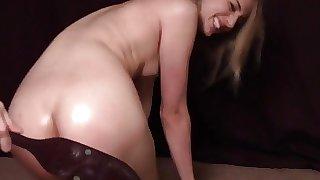 Naughty girl likes spanking