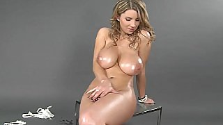 Busty natural titted Katerina masturbating