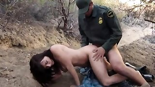 Russian police Kayla West was caught lusty patrool during bo