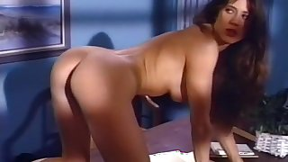 Exotic pornstar Kym Wilde in incredible brunette, office xxx clip