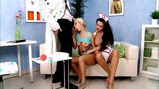 Amazing pornstar Aletta Ocean in horny nurse, threesomes adult clip