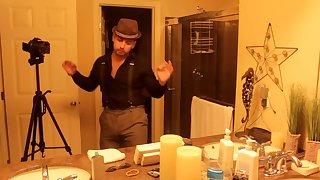 Don Stone In His Suspenders Dancing & Teasing Hot Handsome Latino American