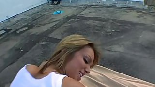 Sara Jay and Jessi Summers in Miami rooftop threesome