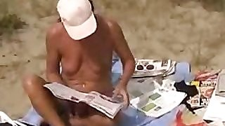 Beach sex with Mature Belgium cougar