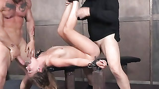 Hot body girl bound and fucked by her masters