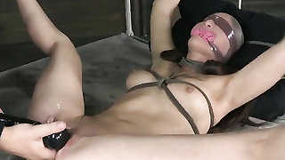 Cunt of a BDSM sex slave drips hot juices