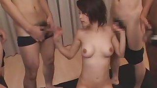 Amazing Japanese whore Saki Ootsuka in Crazy Facial, Stockings/Pansuto JAV movie