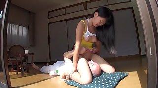 Horny Japanese slut Airi Satou in Incredible cunnilingus, oldie JAV movie