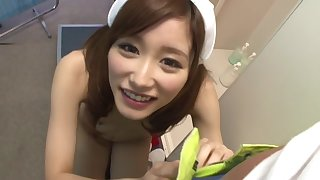 Crazy Japanese whore Chika Eiro in Exotic nurse JAV scene