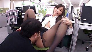 Incredible Japanese slut Aoki Misora in Fabulous office, panties JAV video