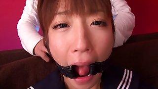 Exotic Japanese girl Hina Kurumi in Incredible bdsm, swallow JAV clip