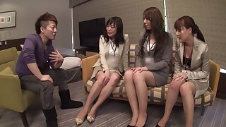 Ren Hasumi, Rise Nagai, Mina Kanamori, Maki Kozue in Office Ladies Skipping Work 6 part 3