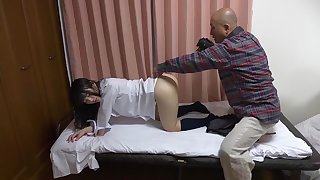 Fabulous Japanese slut Kami Kimura, Shiori Aramaki, Mitsu Tsumitsu in Incredible threesomes, doggy style JAV clip