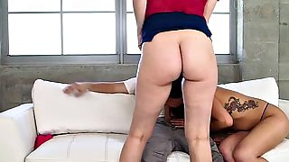 Stepmom teaches young couple blowjob and fuck