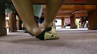 Candid Beautiful Ebony Feet in Heels