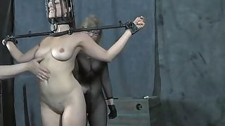chained babe needs sexy torture clip