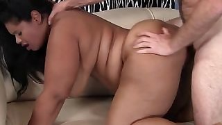 plump ebony spreads buttocks and gets pussy invaded segment