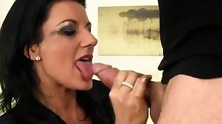 Speechless peach in lingerie is geeting peed on and rode