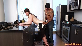 First interracial experience for Natalie Mars