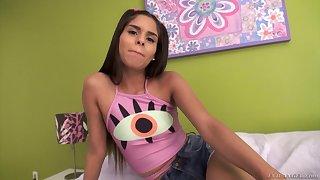 Latina sugar Katya Rodriguez treats Mick Blue with a reverse cowgirl