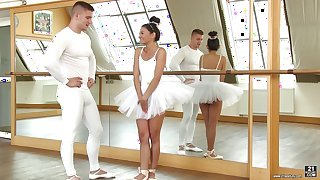 Horny ballerina Adela offers her body to a handsome lover