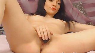 Horny Brunette Finger Fucks Her Pussy