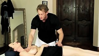 Massaged milf rides cock