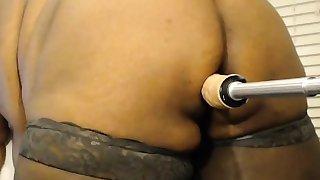 Bbw wife takes a bath and masturbates on webcam