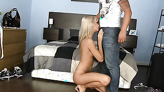 Blonde Angelo Ferro gets probed in the bottom