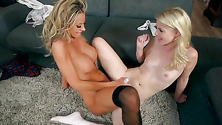 Blonde Charlotte Stokely and Courtney Taylor