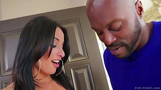 Big titted French babe Anissa Kate getting blacked