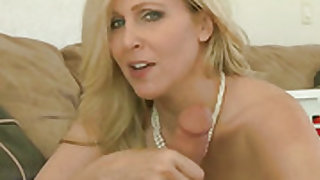 Milf Jessy Jones with massive melons loves giving oral job